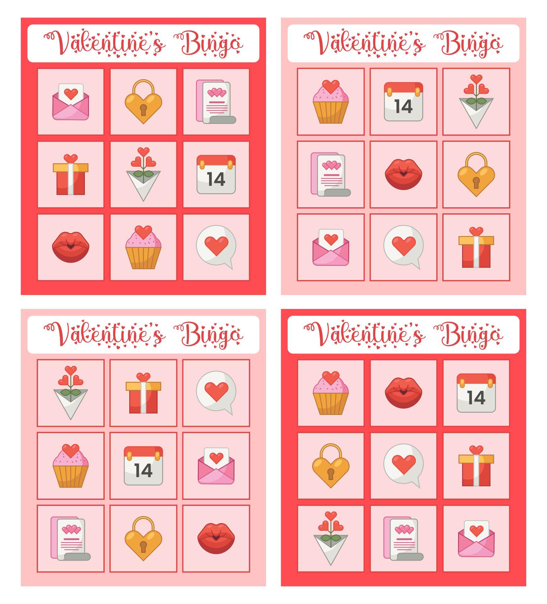 8 Images of Printable Blank Valentine's Day Bingo