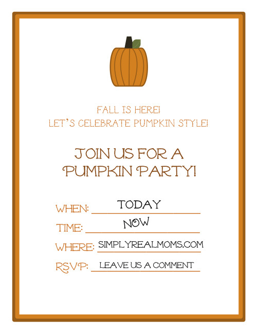 6 Images of Pumpkin Party Printables Free