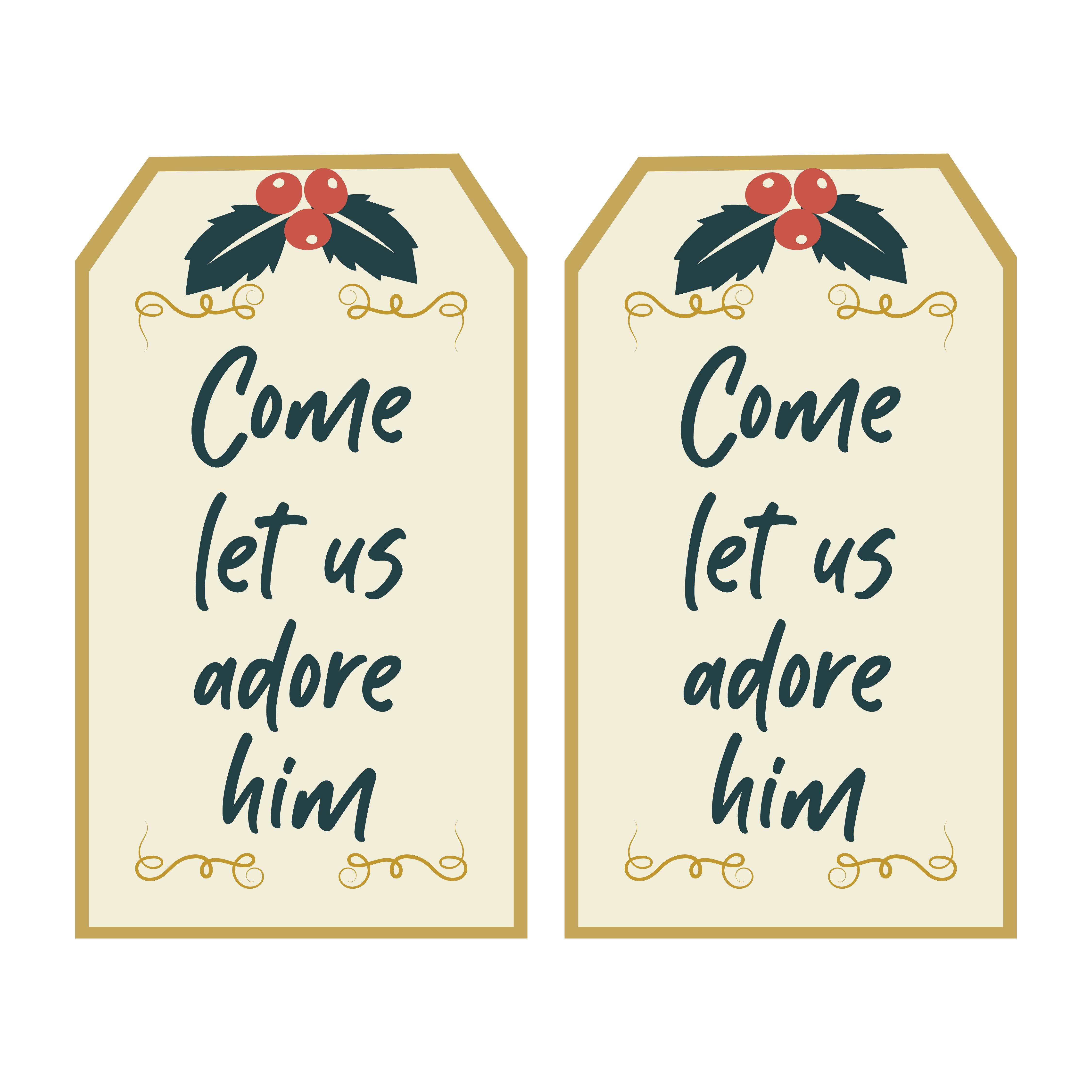 Religious Christmas Gift Tags Printable