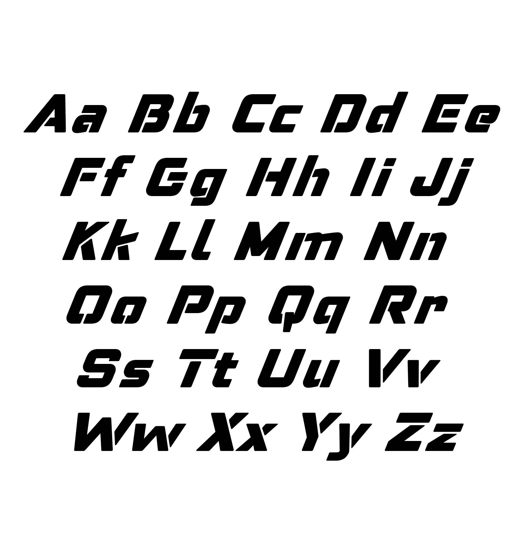 Rustic Alphabet Letters Stencils