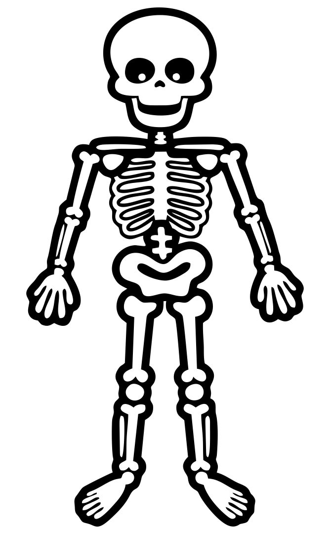 Skeleton Coloring Pages for Preschoolers