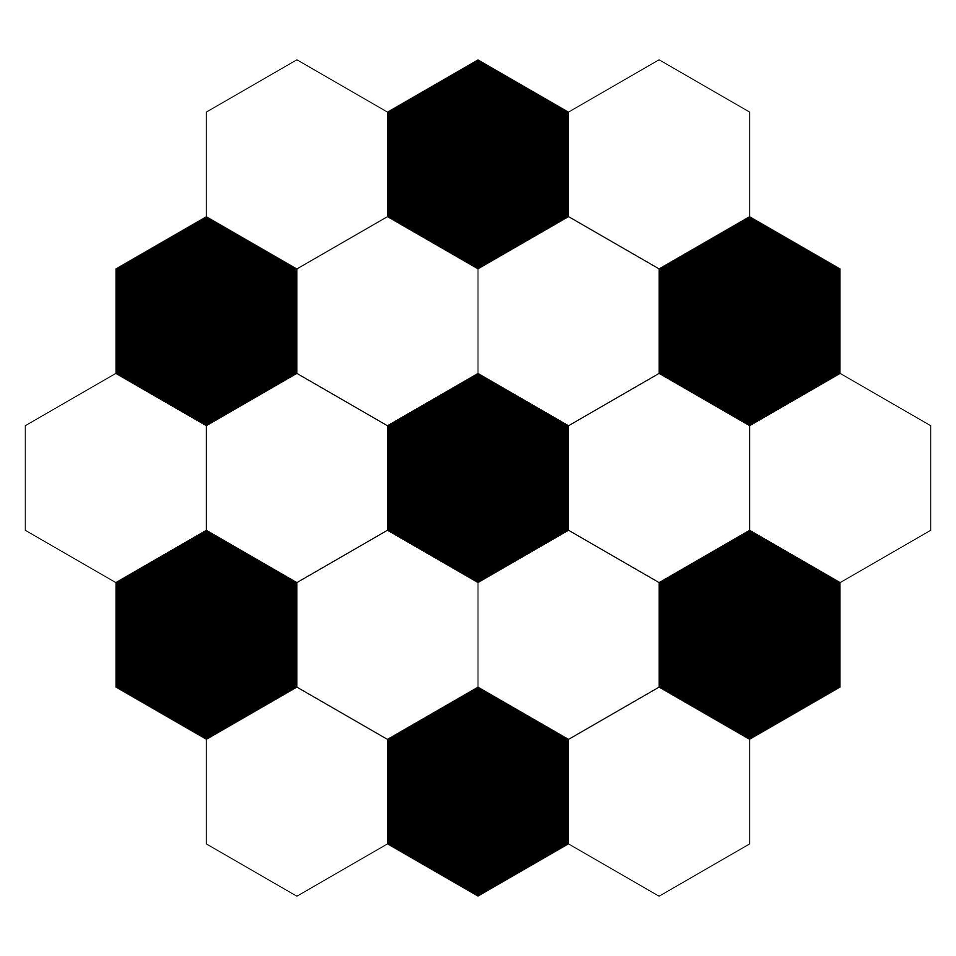 Soccer Ball Pattern Template