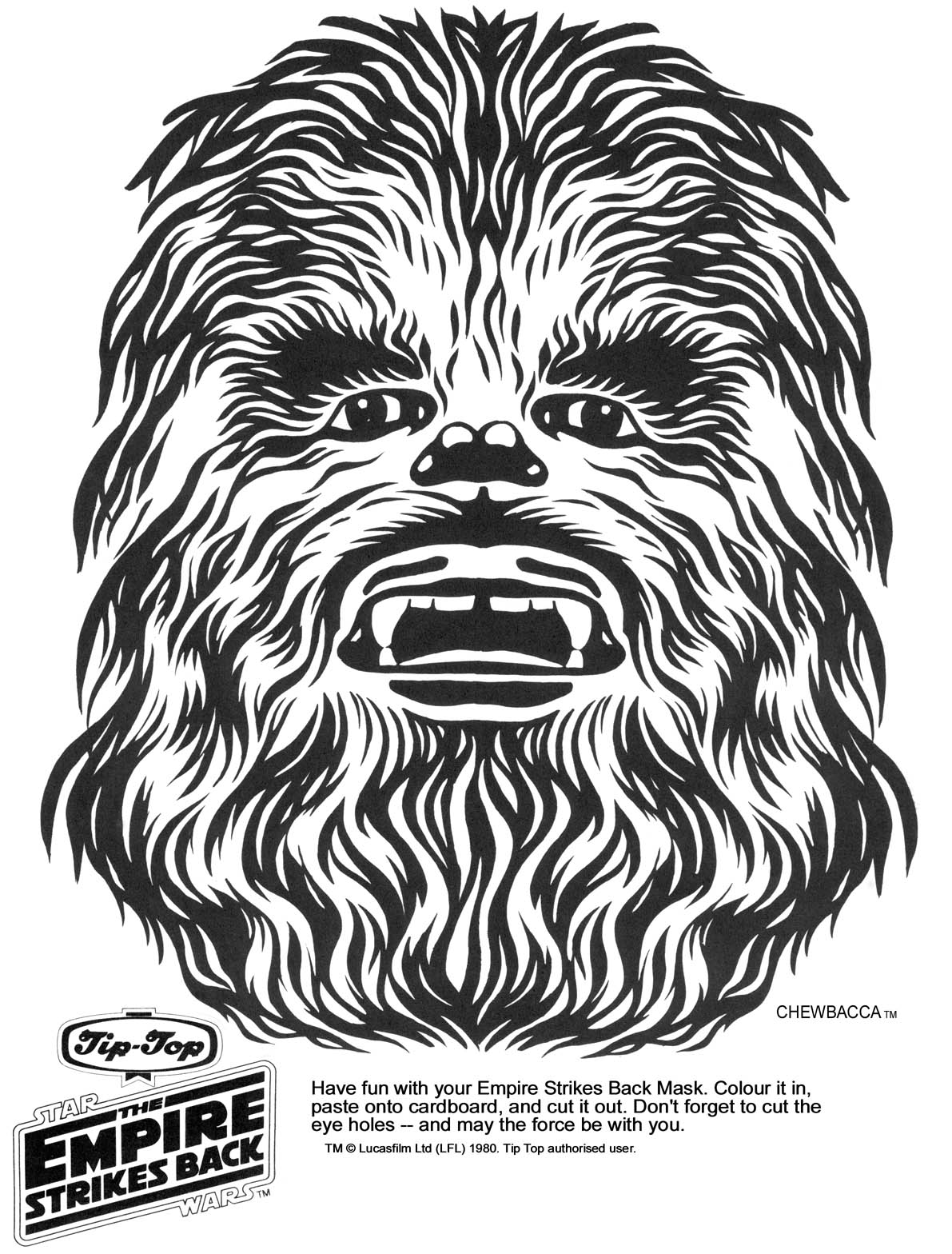 7 Images of Chewbacca Star Wars Printable Masks