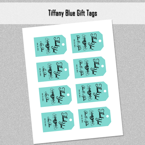 5 Images of Blue Thank You Tags Printable