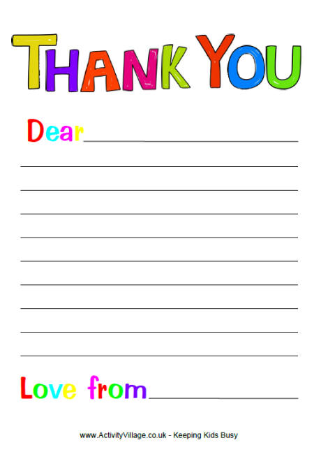 5 Images of Thank You Printable Template Sheets