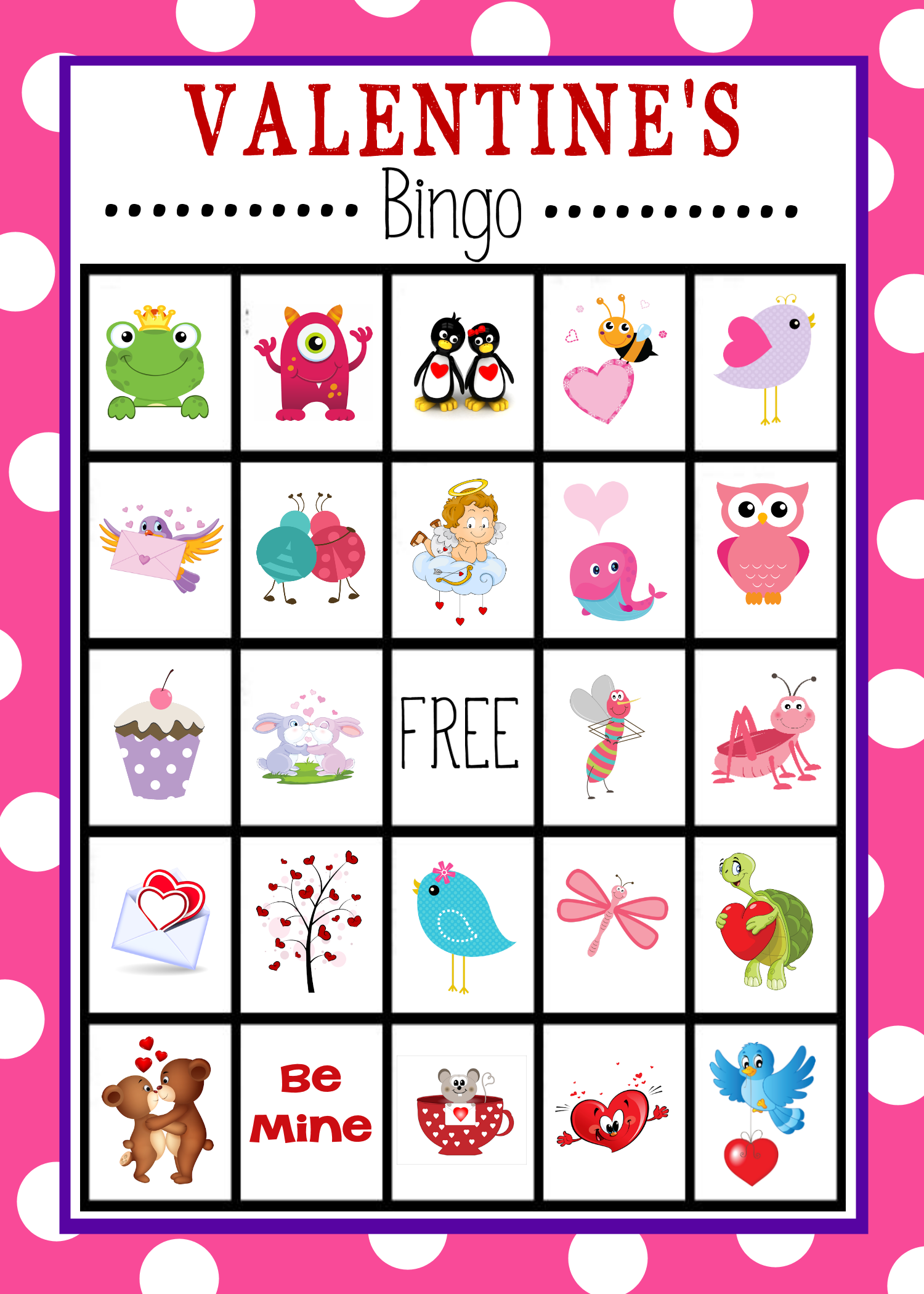 Valentine's Day Bingo Printables Free