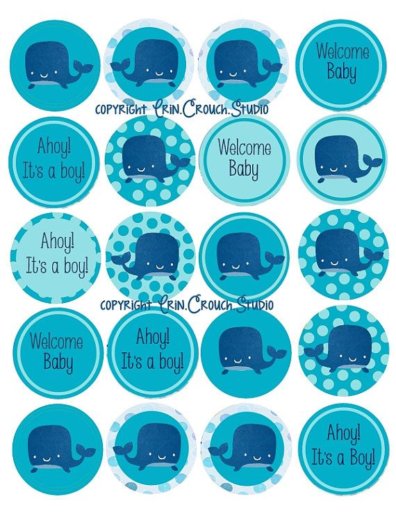 6 Images of Baby Boy Cupcake Toppers Printable