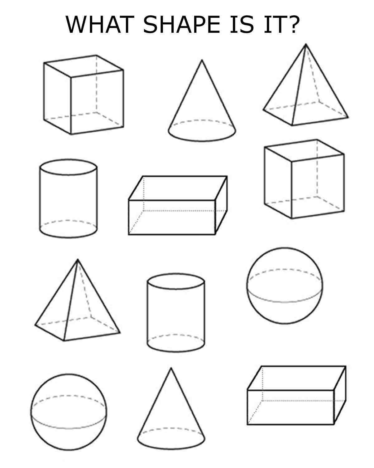Best Images Of Worksheets 3d Shapes Printable Name