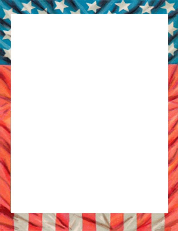 American Flag Page Border