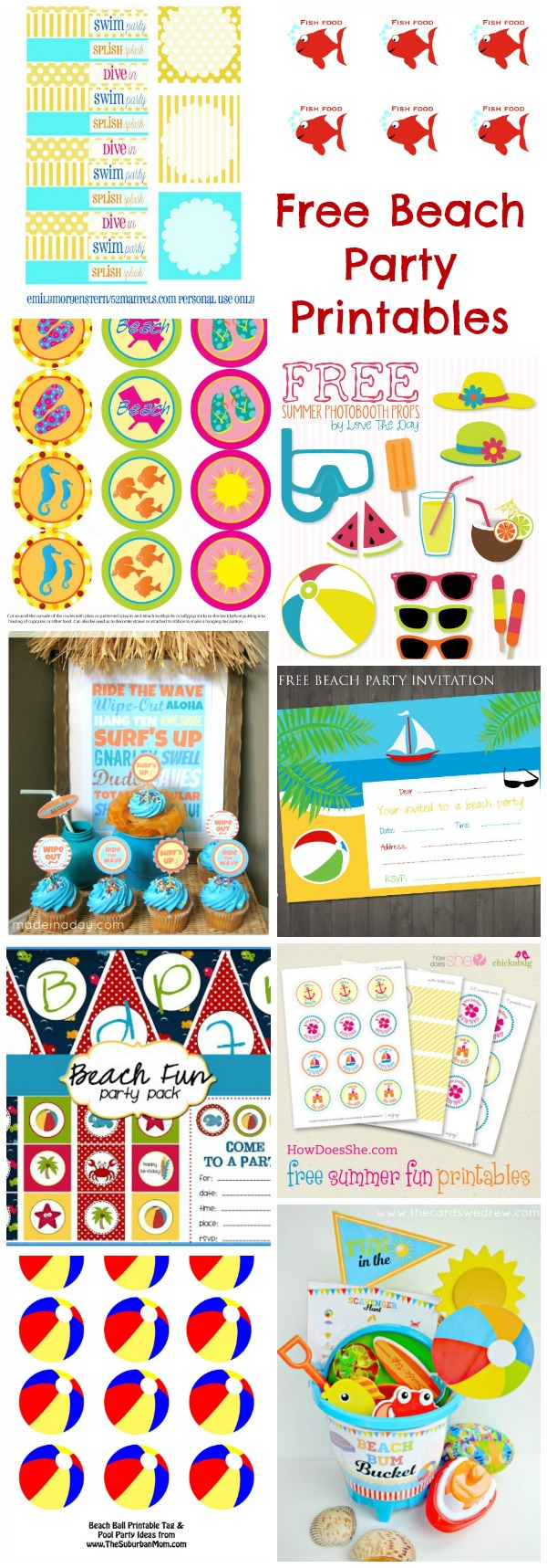 Beach Ball Party Printables Free