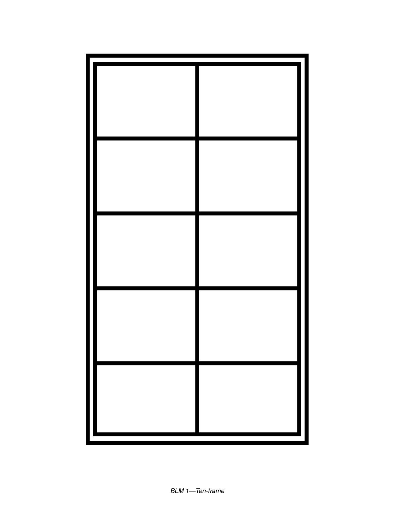 6 Images of Free Printable Tens Frames Templates