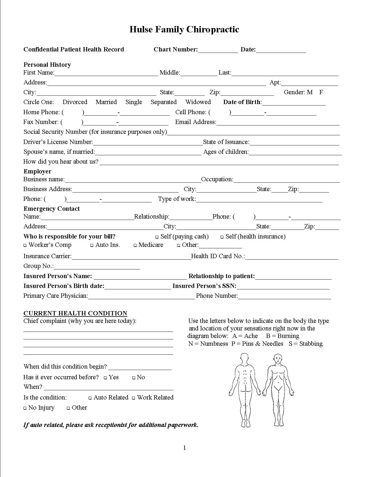 5 Images of Printable Chiropractic Forms