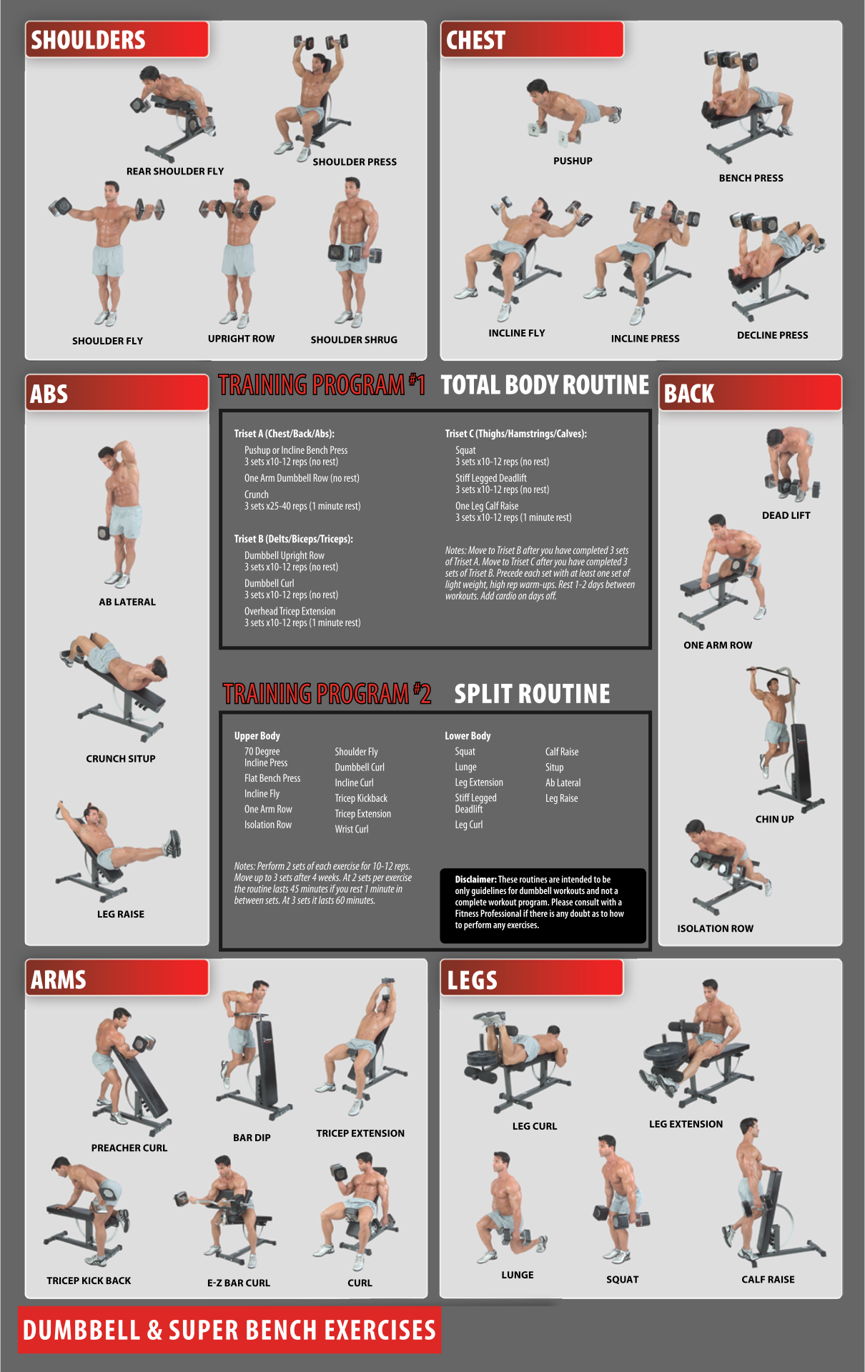 10 best images of free printable workout charts exercises