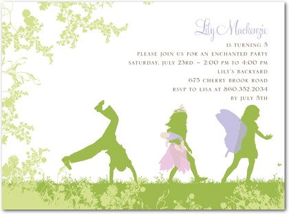 4 Images of Free Printable Fairy Birthday Party Invitations