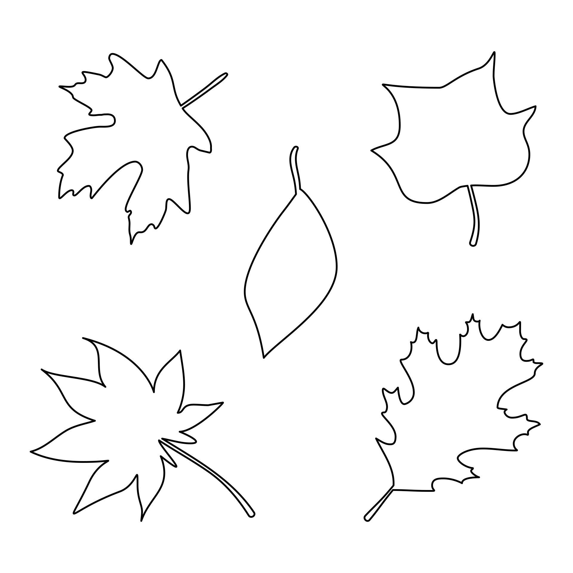 Fall Leaf Templates Printable