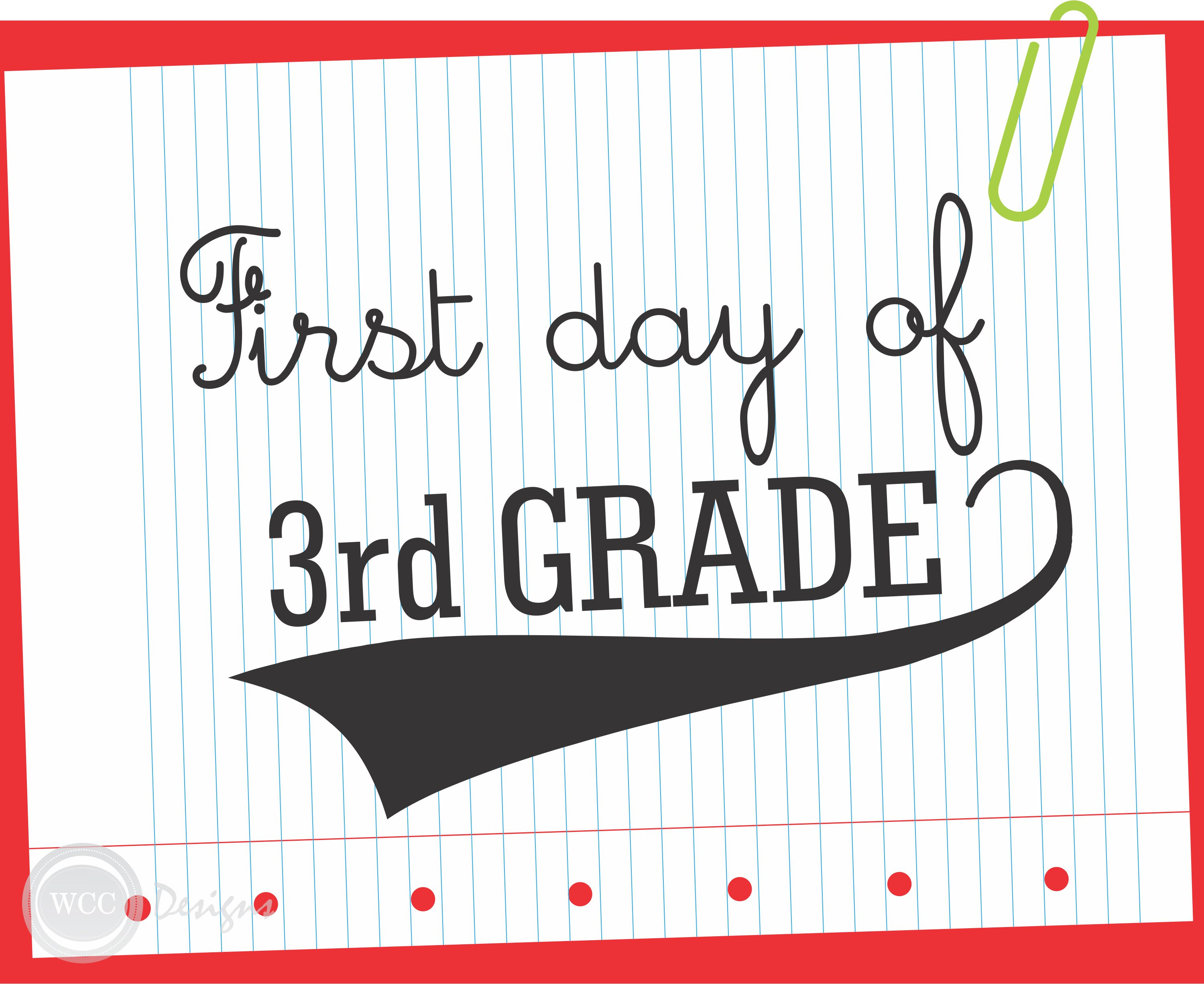 7 Images of 1st Day Of 3rd Grade Printable
