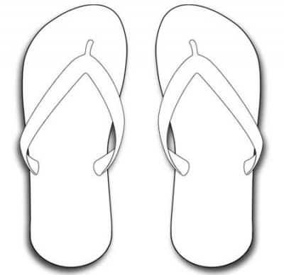 7 Images of Flip Flops Printable Bookmarks