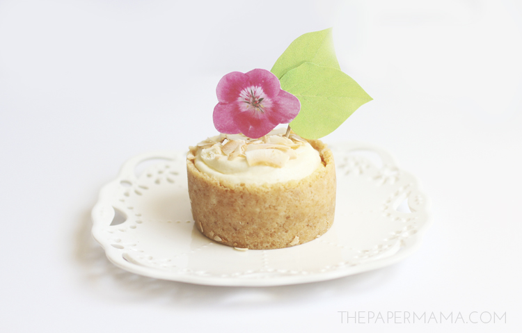Flower Cupcake Topper Free Printables