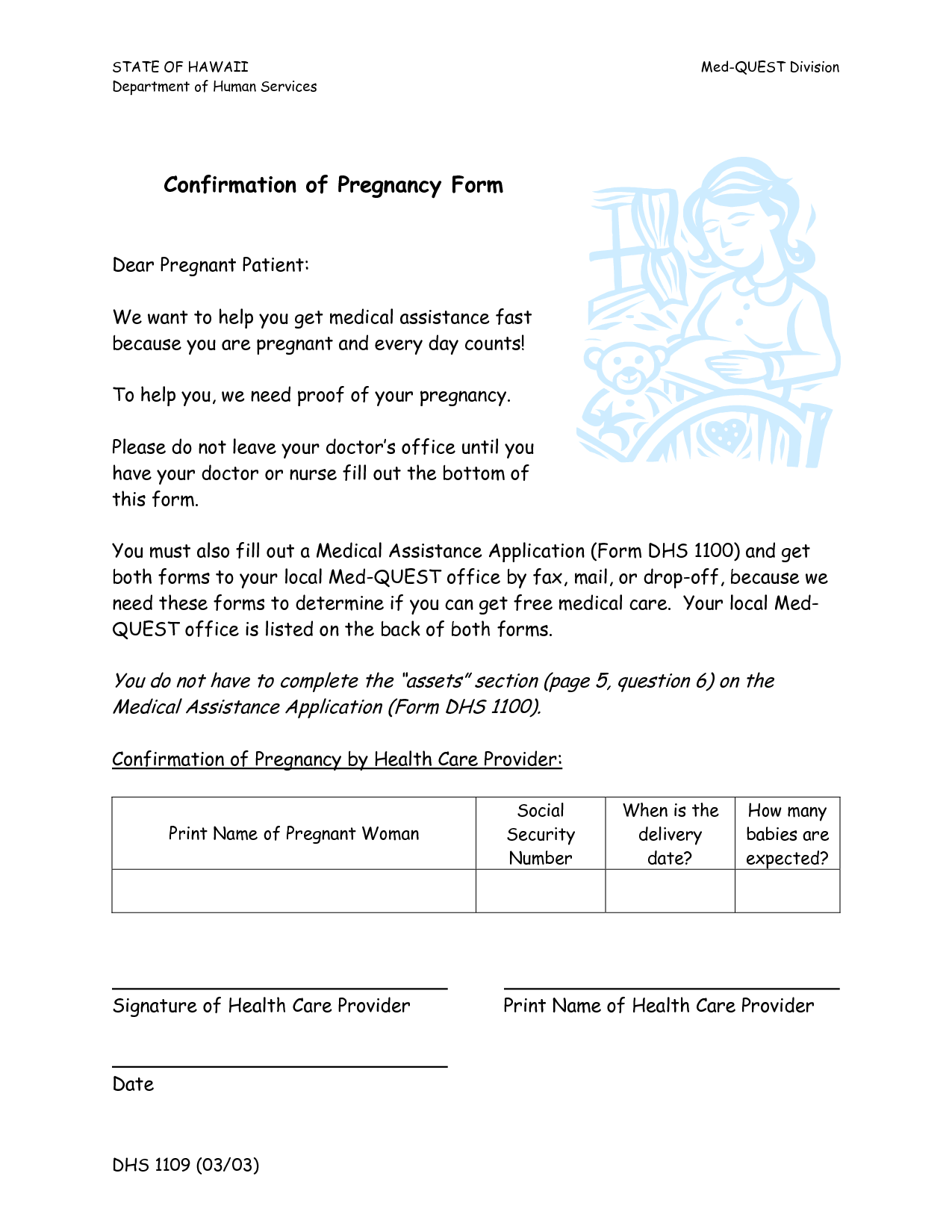 Pregnancy Confirmation Letter Template