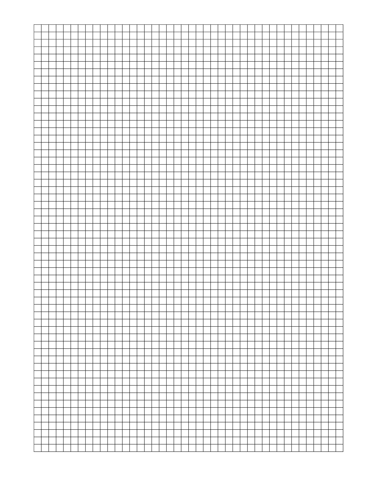 graph paper word