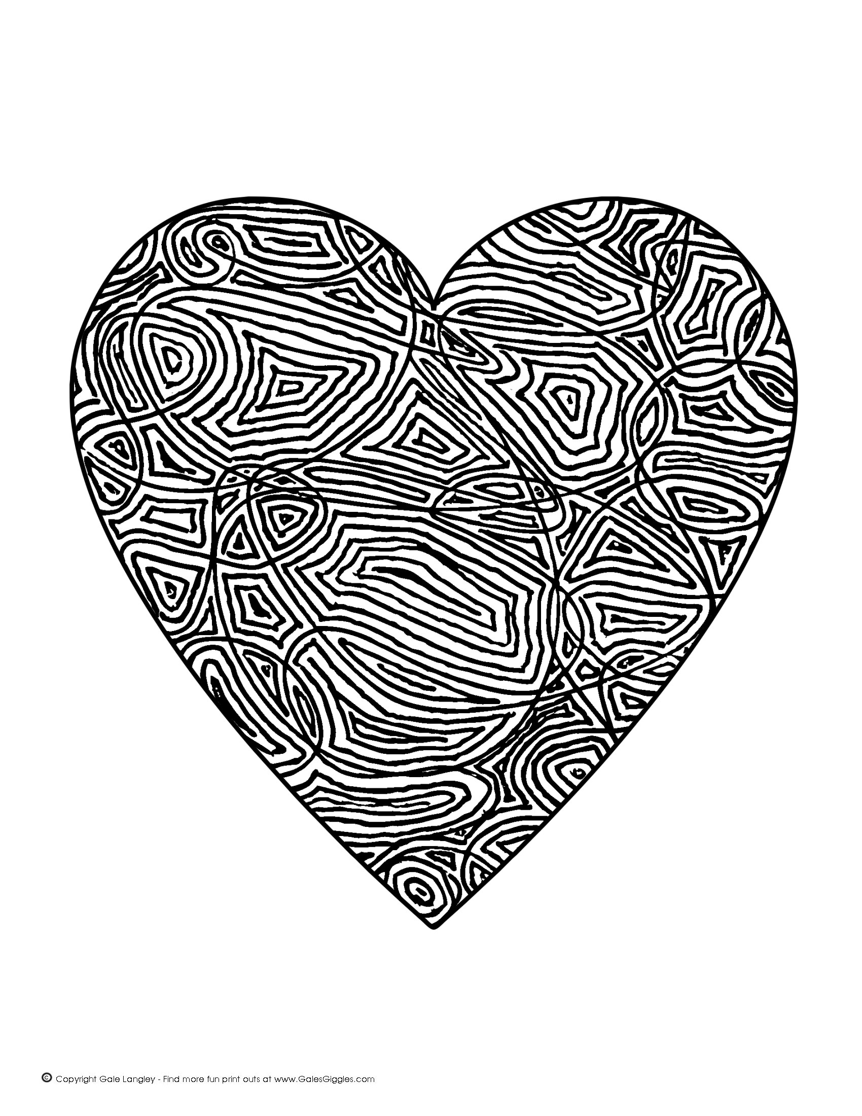7 Images of Detailed Coloring Pages Free Printable Hearts