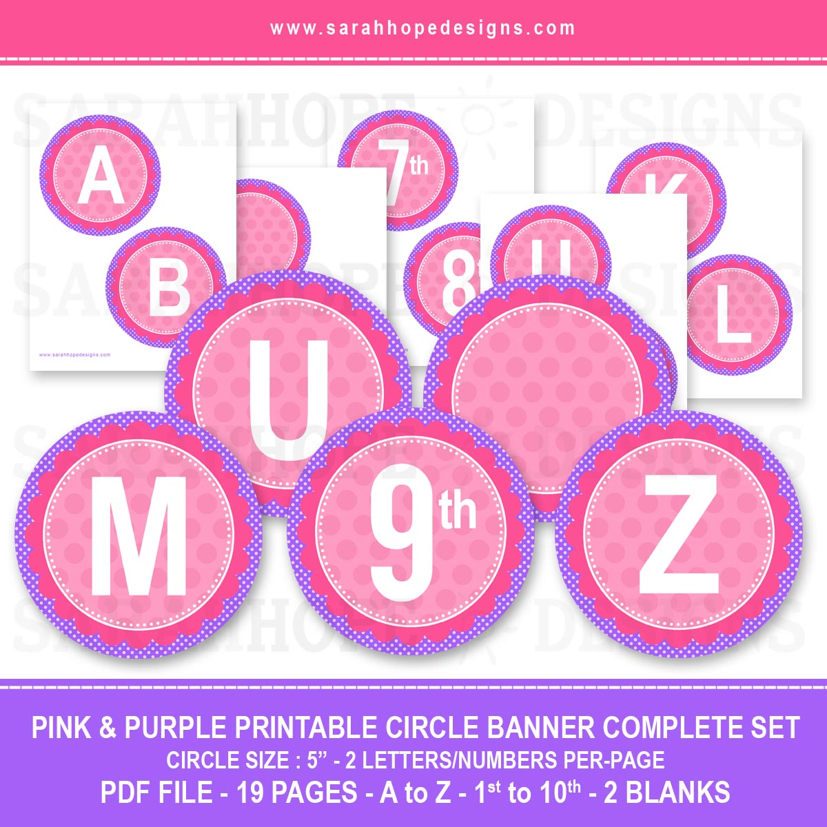 7 Images of Circle Printable Alphabet Banner