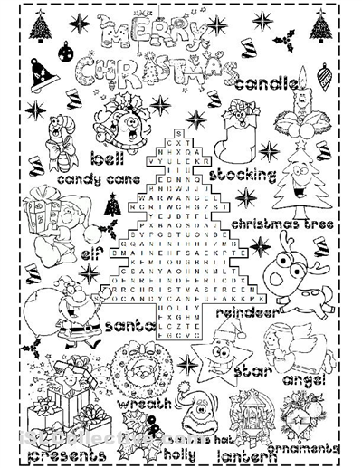 Printables Christmas Printable Worksheets christmas worksheets free davezan 5 best images of printables printable