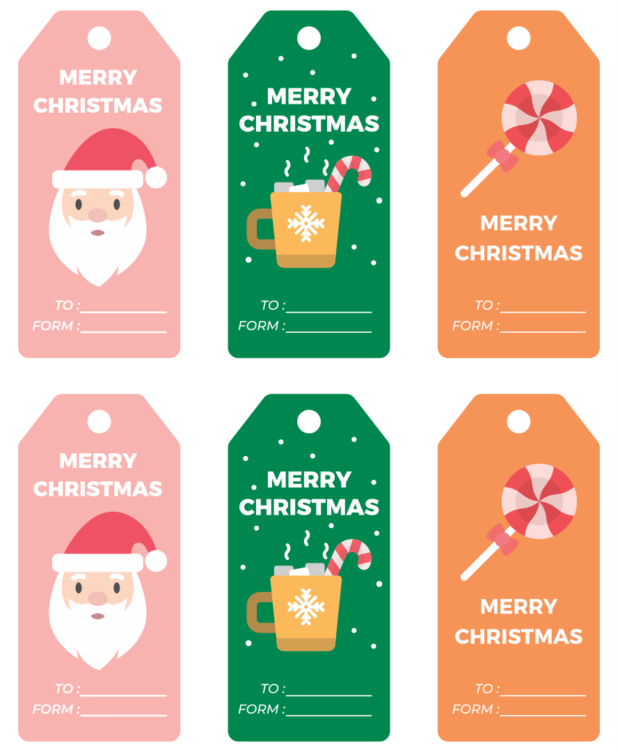 8 Images of Printable Christmas Tags From Santa