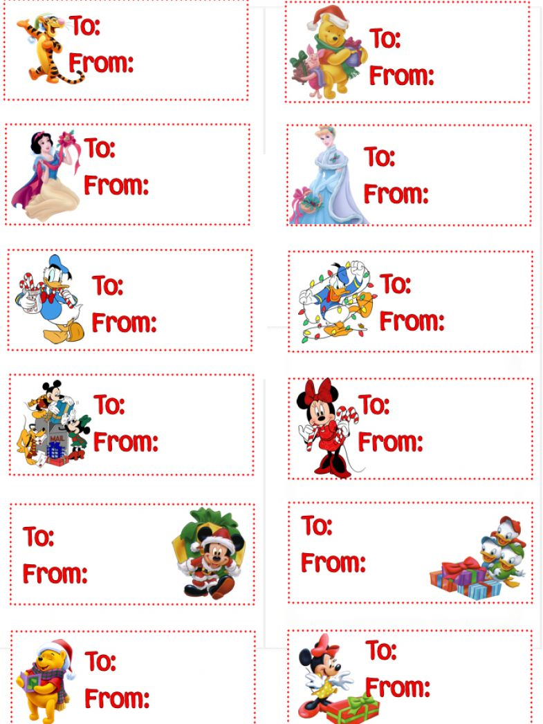 6 Images of Disney Printable Gift Tags