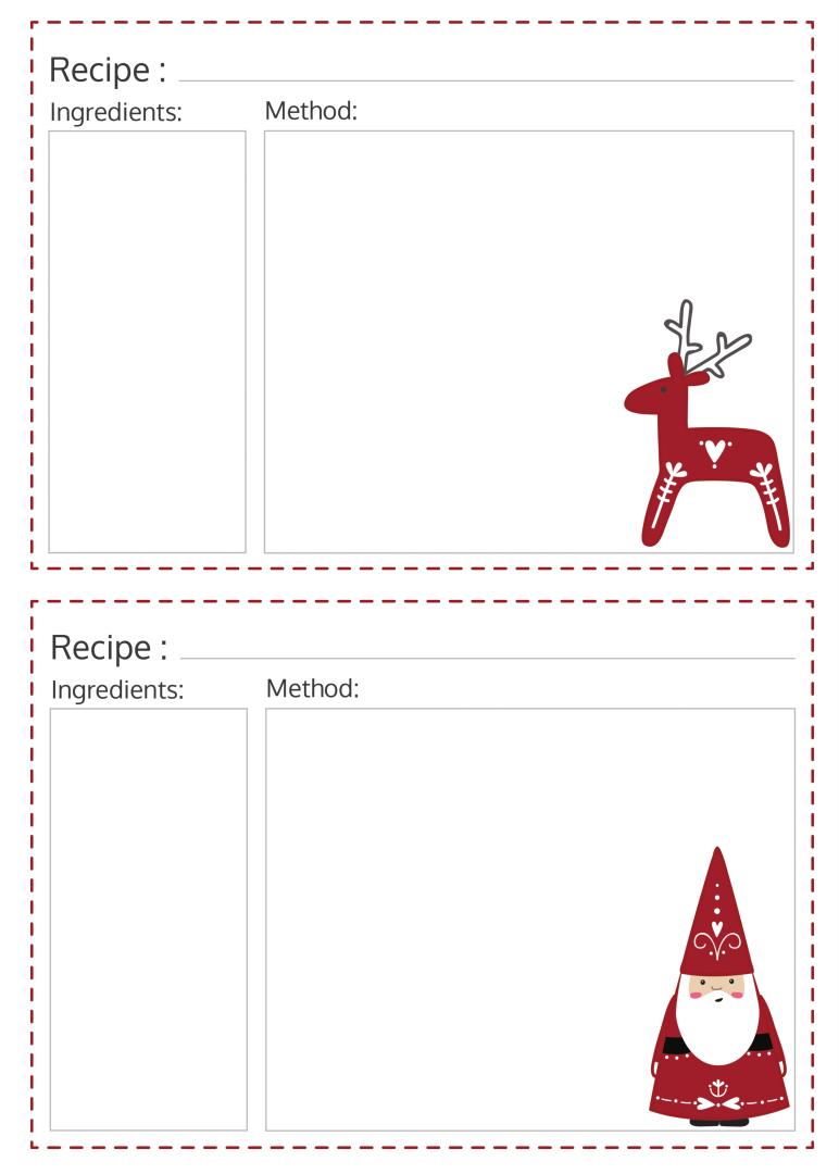 8 Best Free Editable Printable Recipe Cards Christmas ...