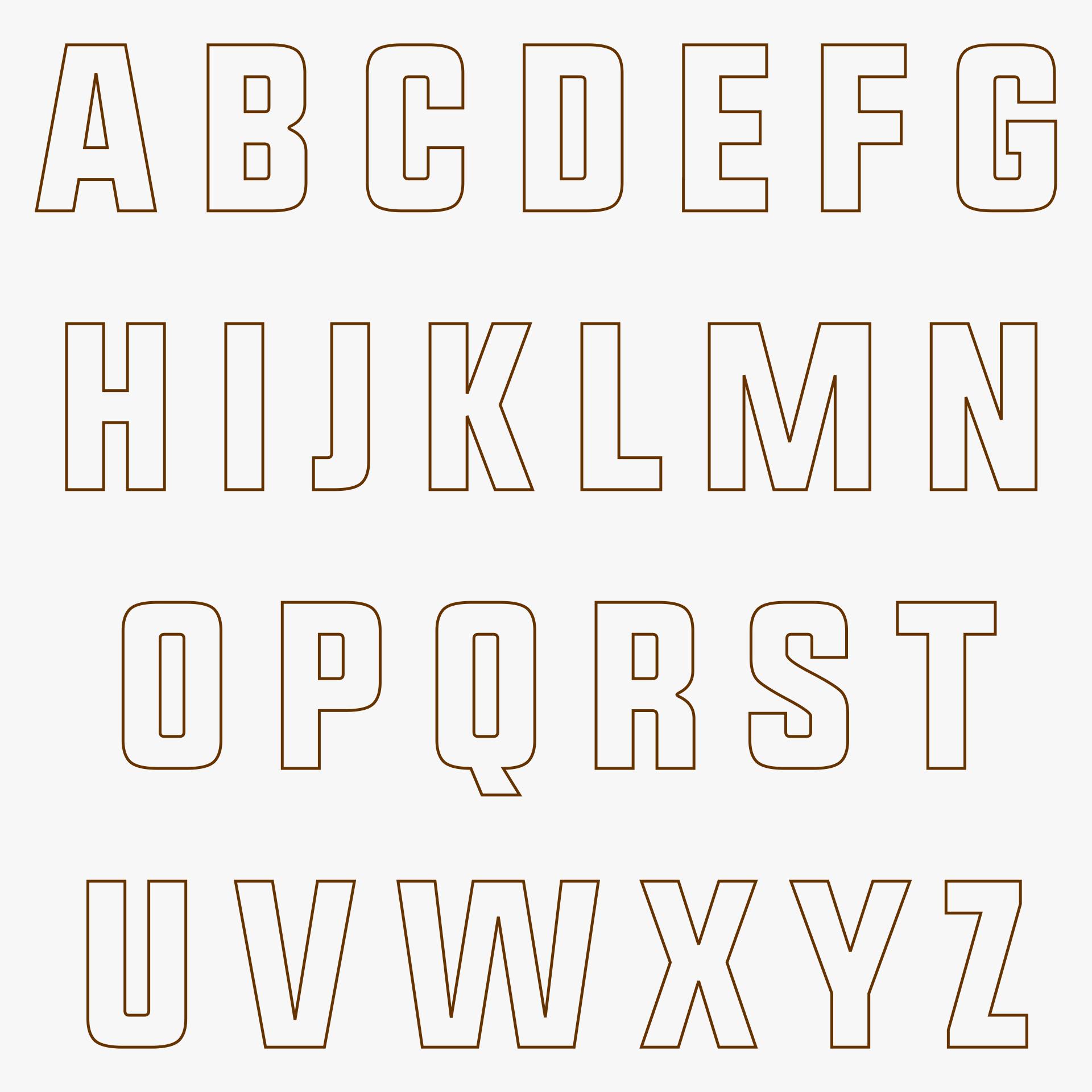 Printable Cut Out Alphabet Letters