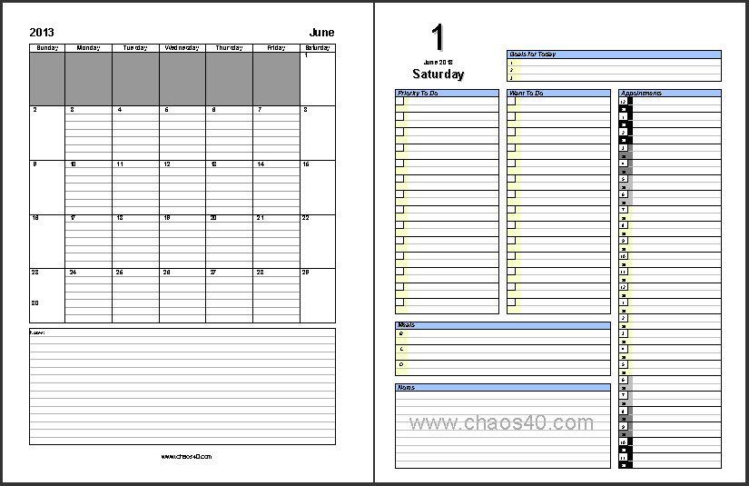 weekly academic planner template
