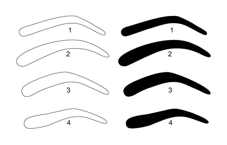 eyebrow templates printable 6 best images of free printable eyebrow stencils kit