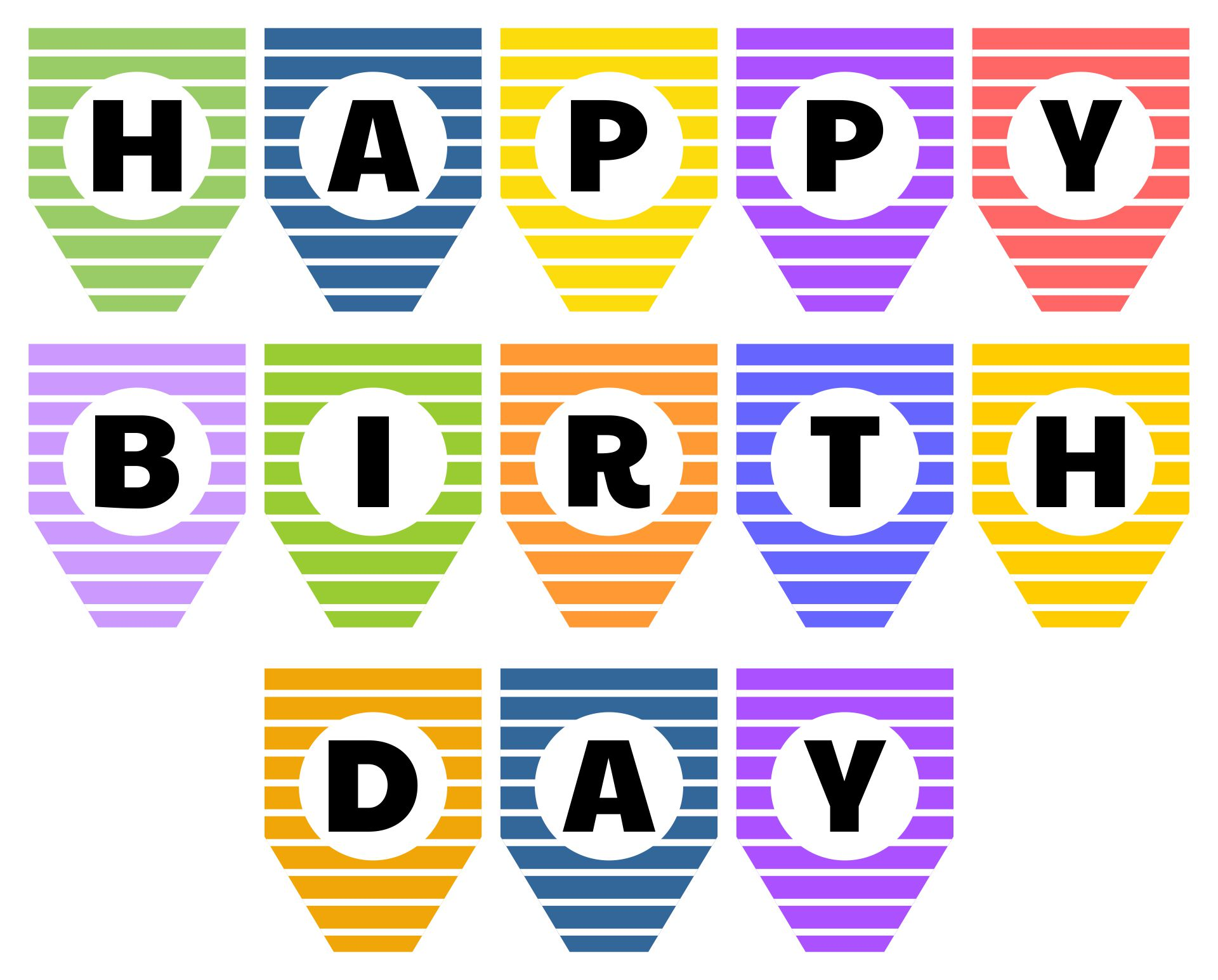 Happy Birthday Sign Printable My Blog
