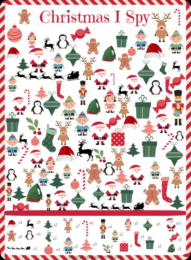 ... Free Printables and Free Printable I Spy Christmas Game / printablee