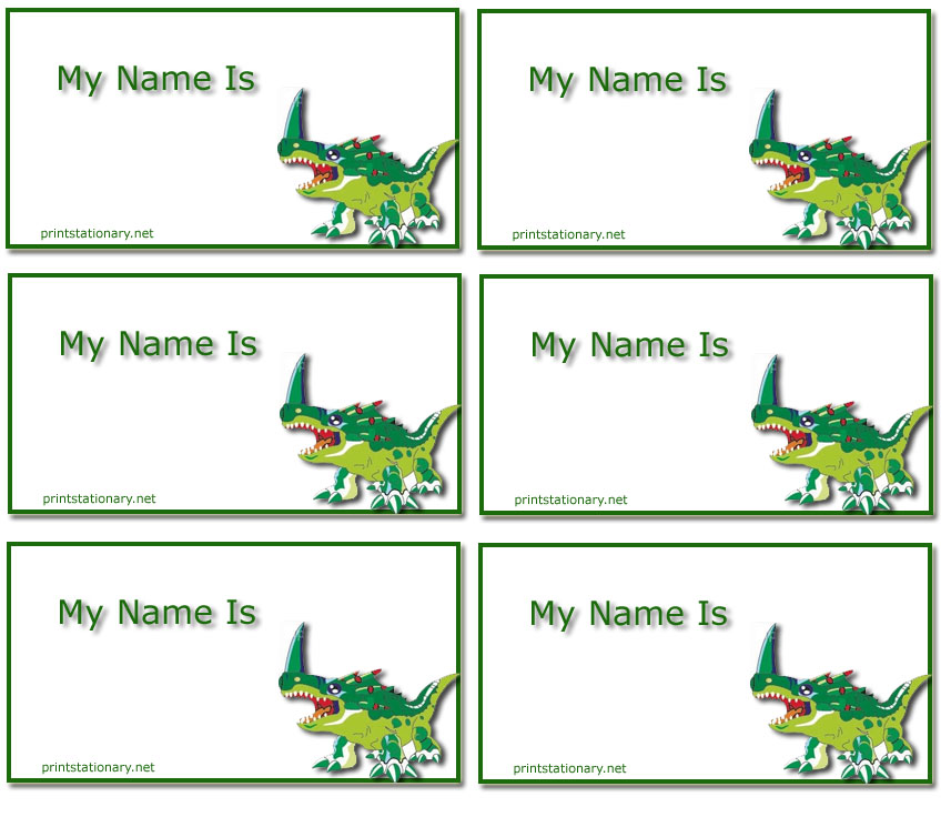Free Printable Kids Name Tags Templates