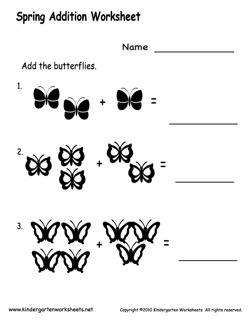 Free Addition Worksheets For Kindergarten – Free Addition Worksheets