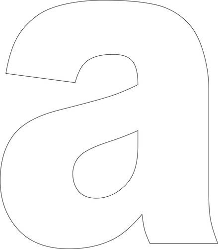 6 Images of Lowercase Printable Letter Stencils