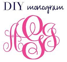 5 Images of Printable Monogram Maker
