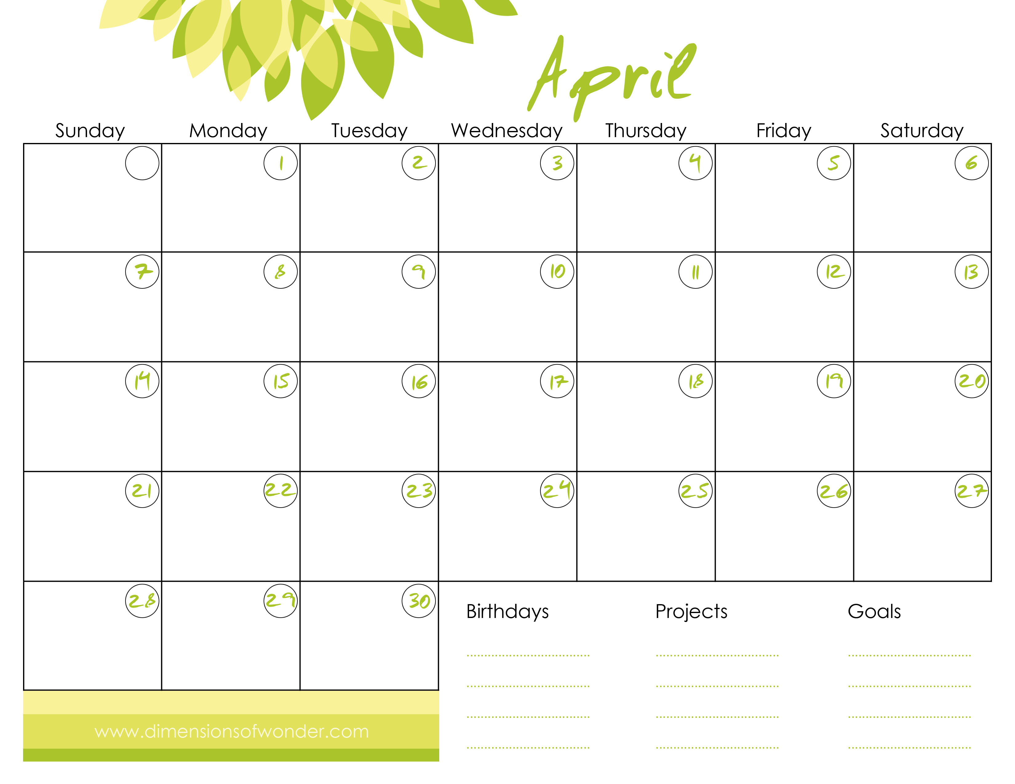 6 Images of Printable Monthly Calander