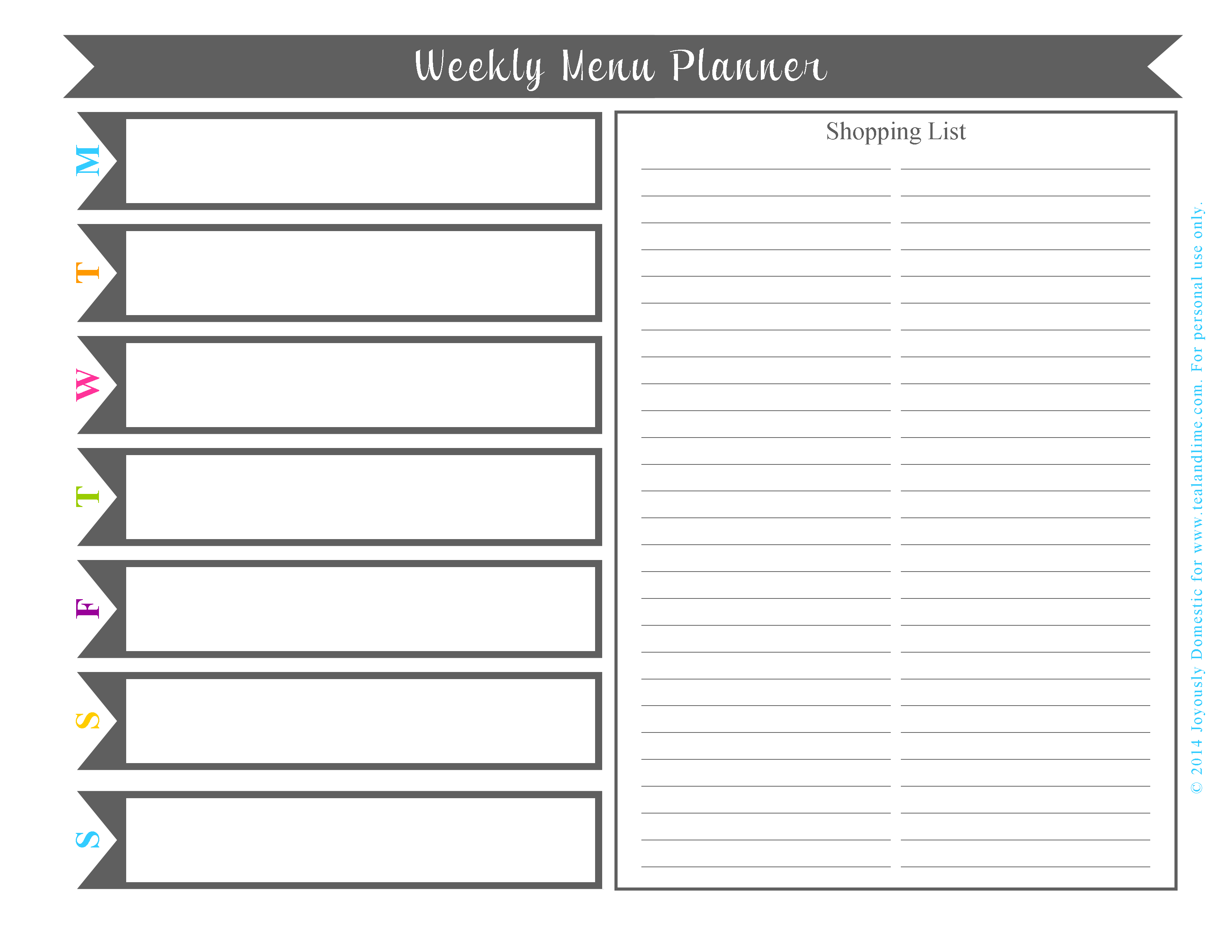 7 Images of Free Printable Weekly Day Planner