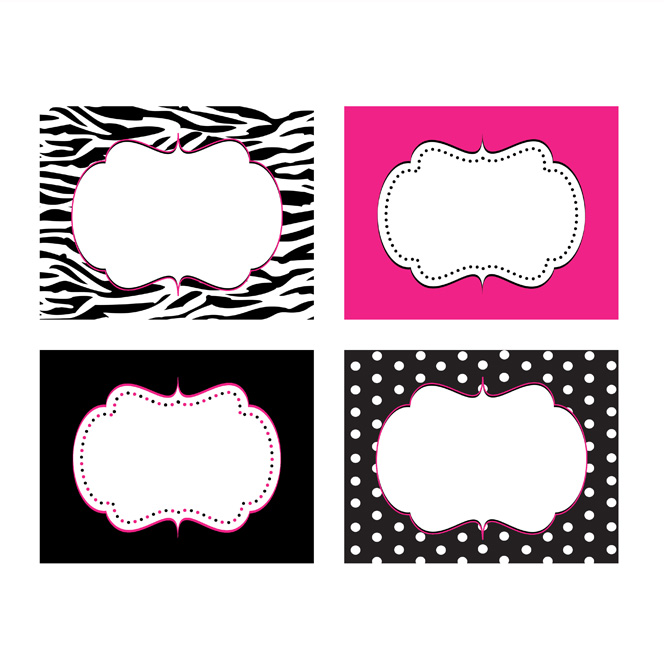 6 Images of Zebra Print Printable Labels