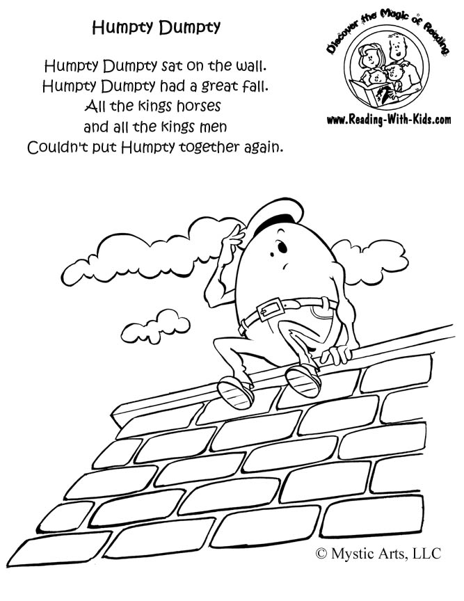 free nursery rhymes coloring pages - photo#12