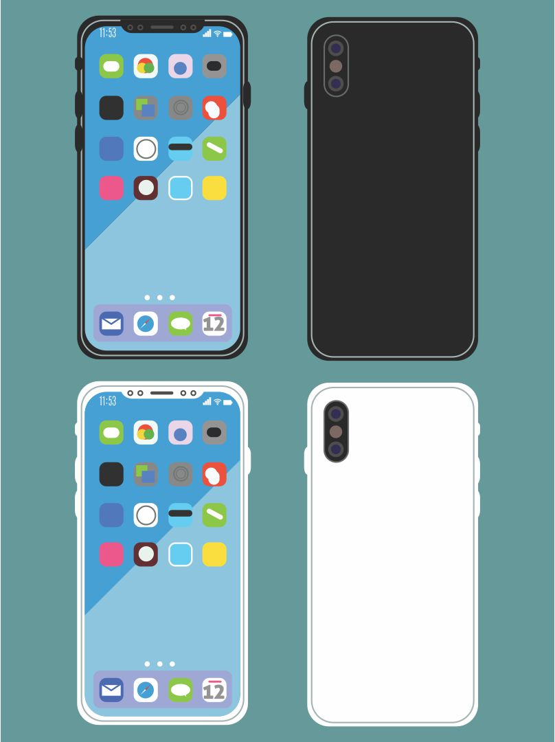 iPhone Front and Back LPs Printables