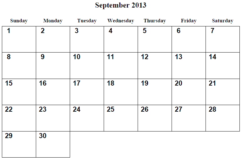 ... 2013 Calendar Printable and September 2015 Calendar Printable