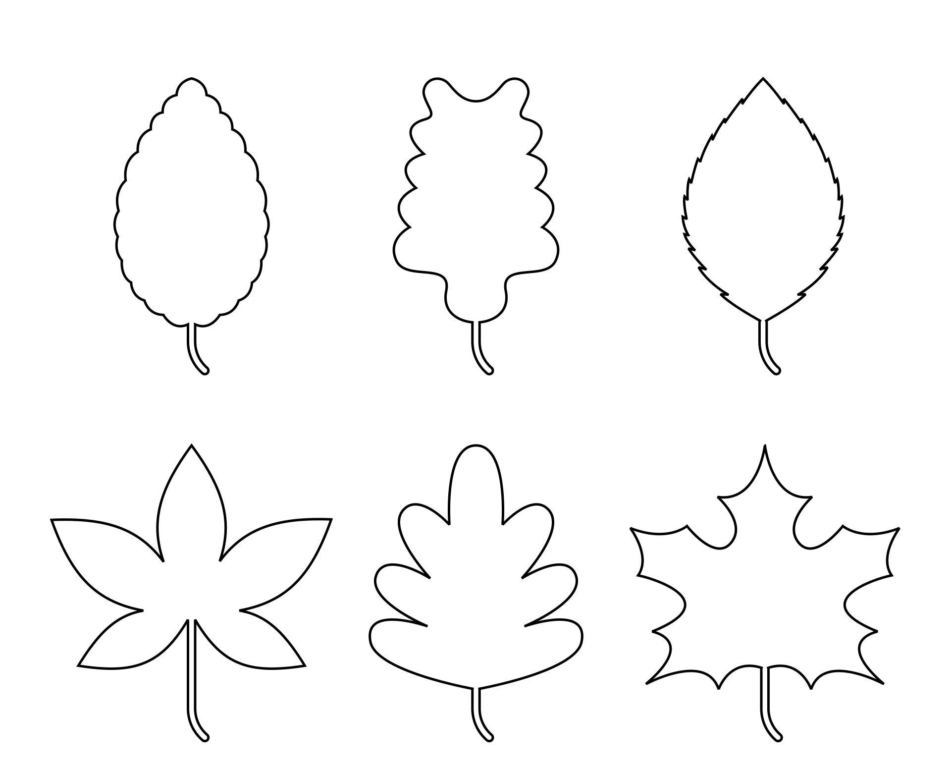 Leaves Templates Printable