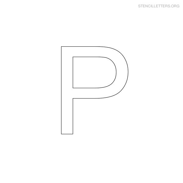 5 Images of Printable Letter Stencils P