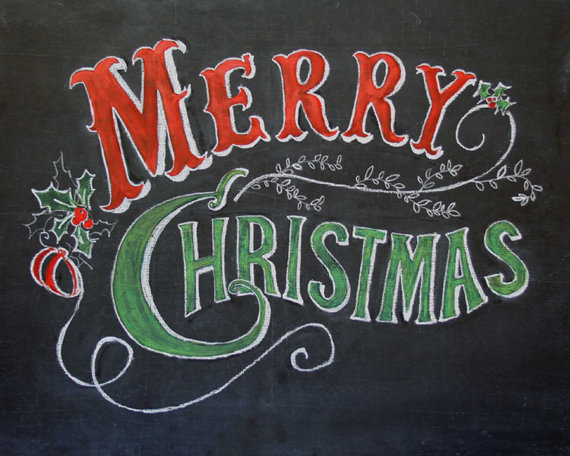 7 Images of Merry Christmas Chalkboard Printable