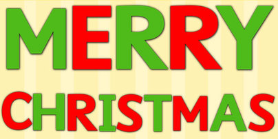 Merry Christmas Cut Out Letters