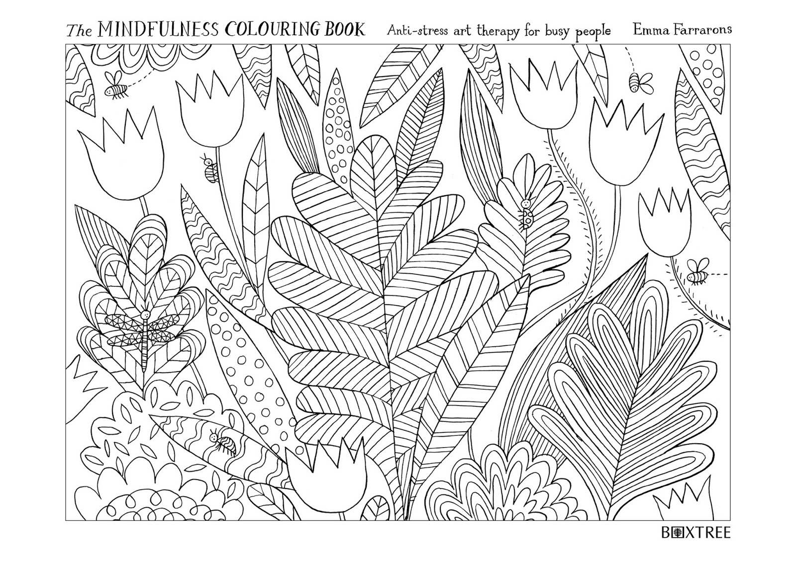 Mindfulness Coloring Book Pages